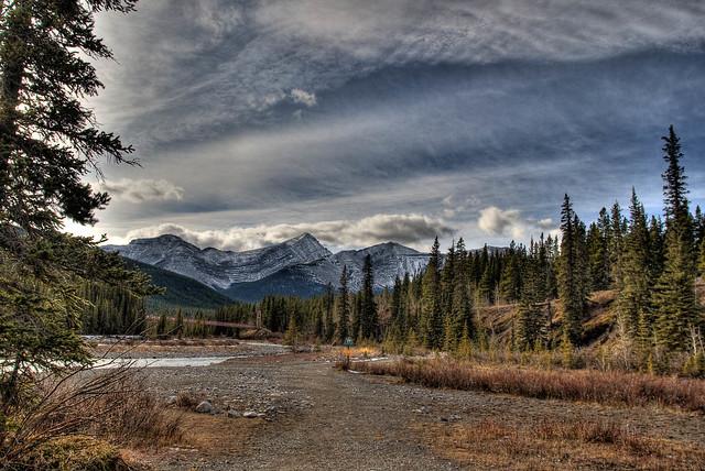 Landscape in Bragg Creek Provincial Park Alberta Canada