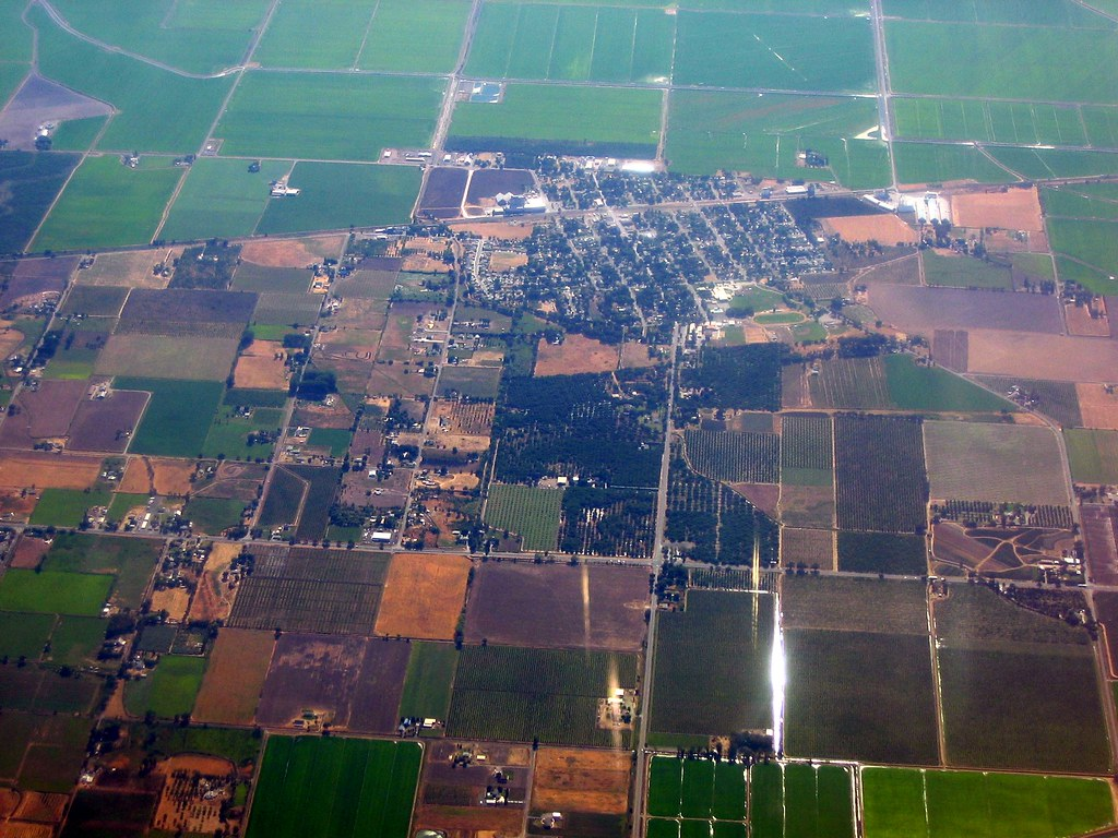 Aerial of Biggs California  North is to the right I had t  Flickr