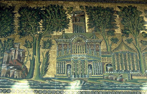 Barada mosaic of the eastern wall of the Umayyad Mosque of  Flickr