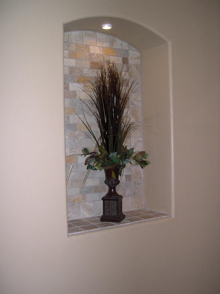 Travertine decorative niche  2x4 tumbled travertine in