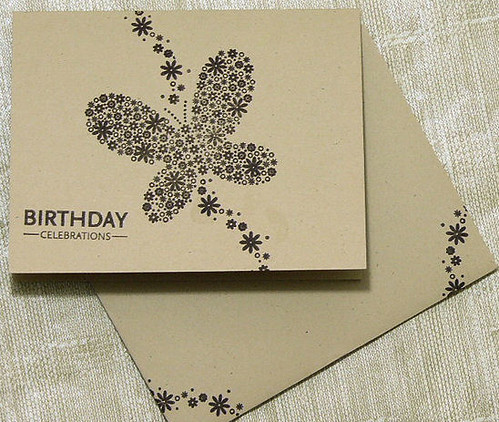 Butterfly Hand Stamped Card Butterfly Image Hand