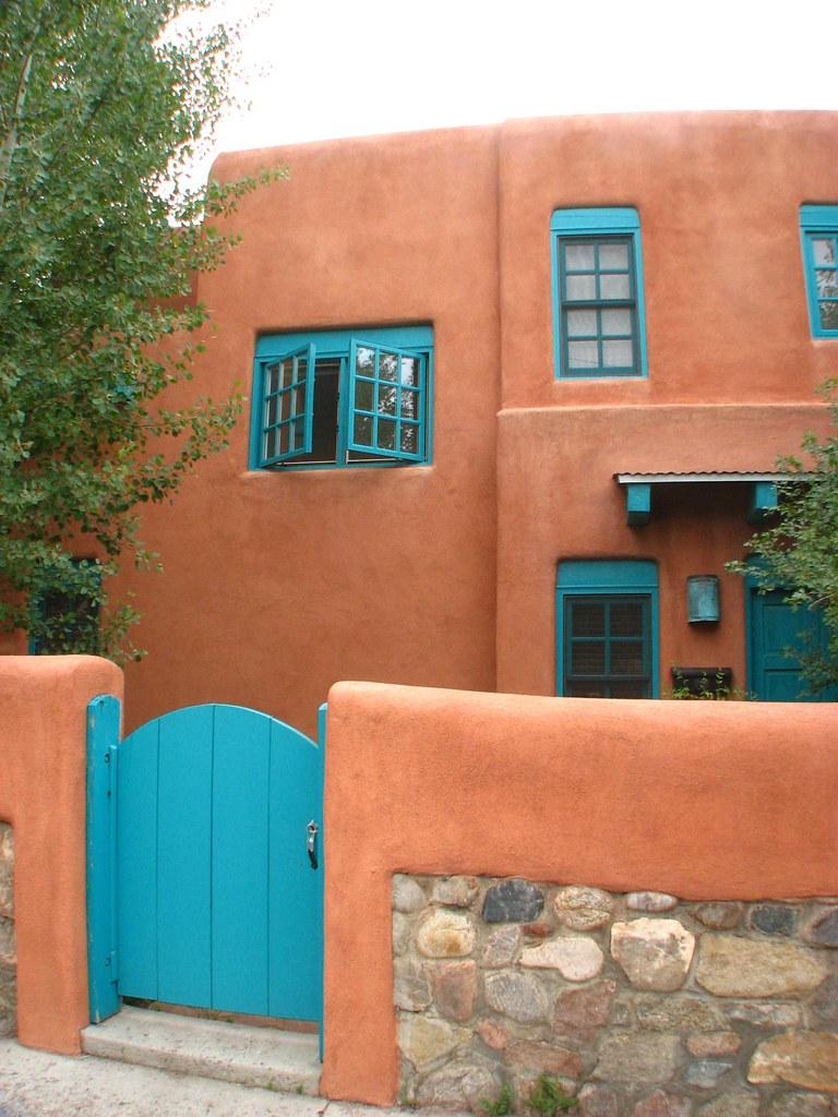 Terra Cotta and blue santa fe  terra cotta and blue