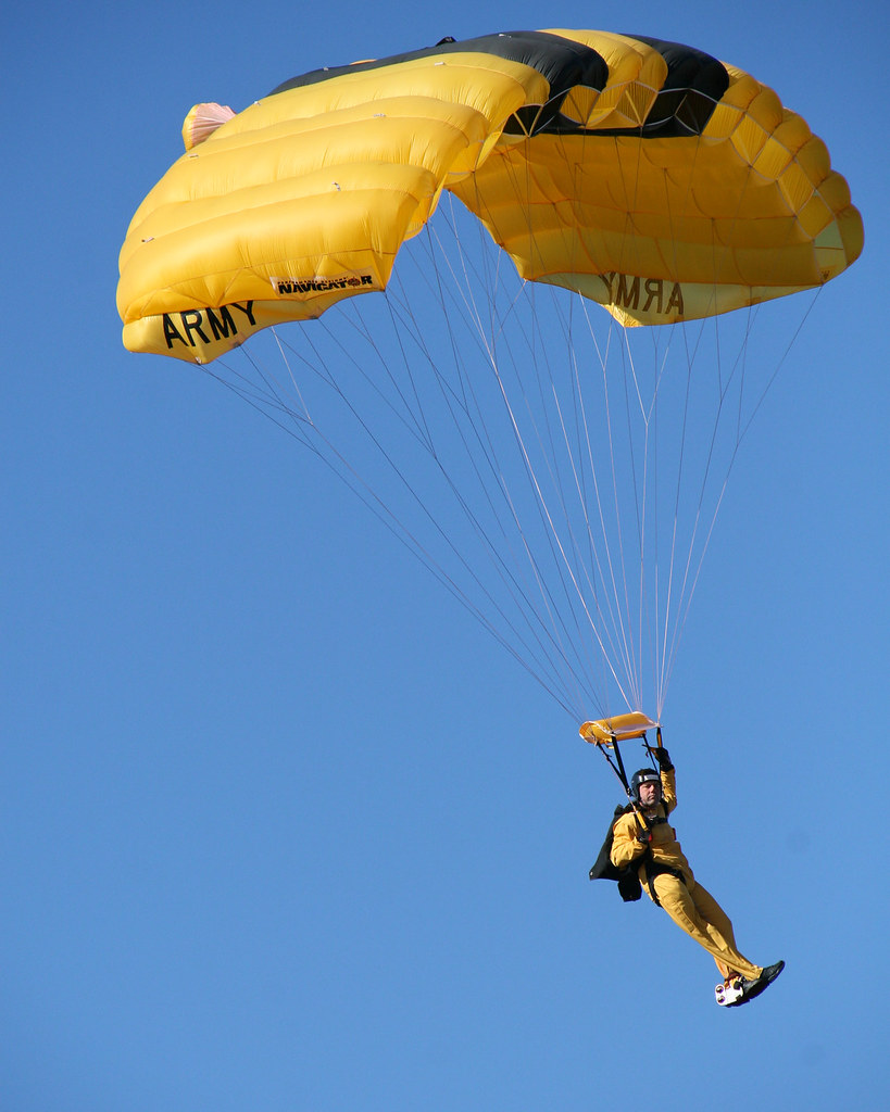 U S Army Parachute Team Graduates First Wounded Warrior A