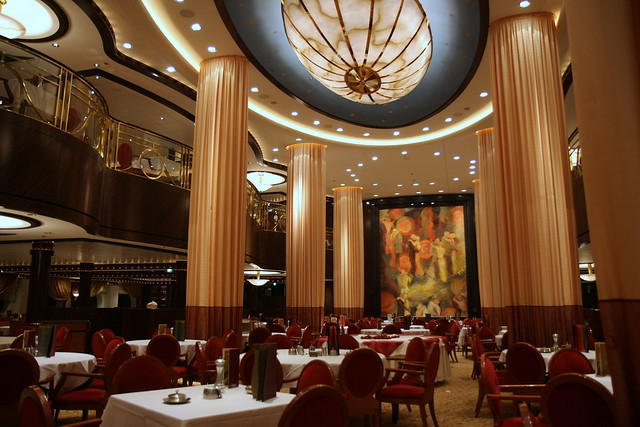The spectacularly grand main dining hall  Serenade of the
