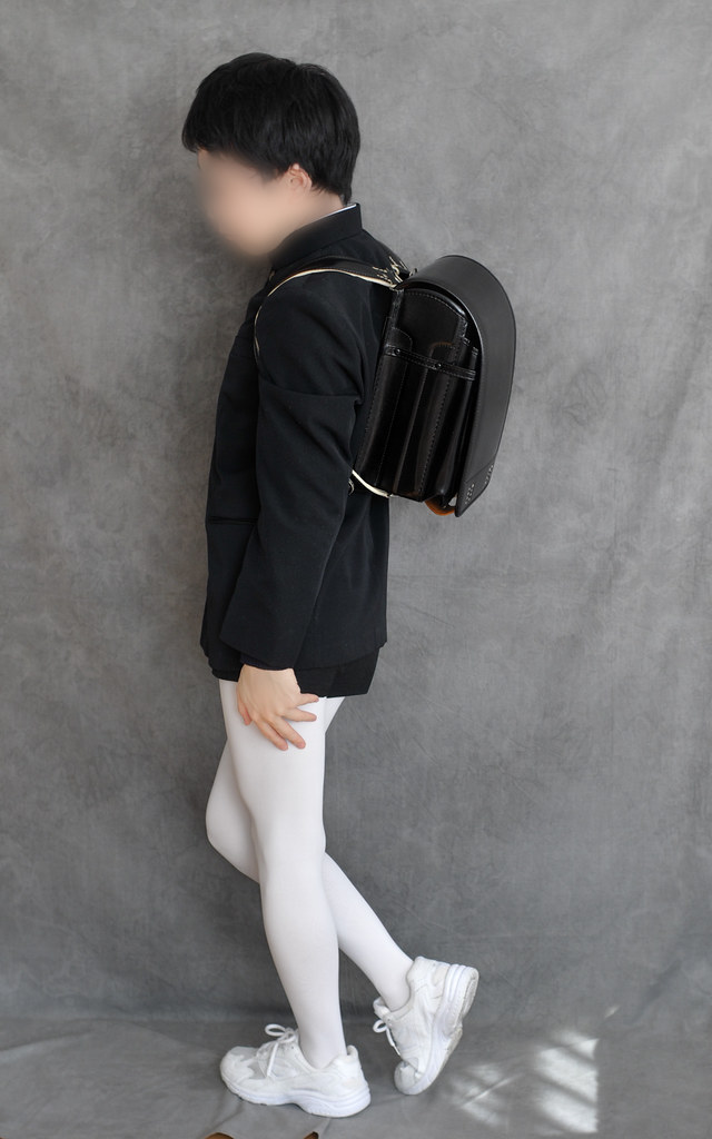 Black school shorts with white tights  sutiblr  Flickr