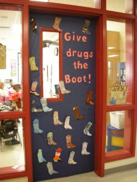 Door Decorations for Red Ribbon Week | Give drugs the Boot ...