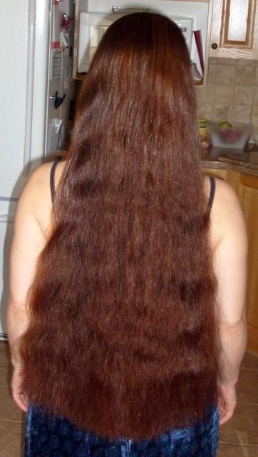 waist length hair henna