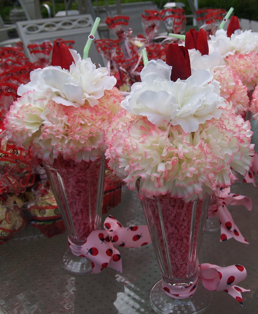 ice cream soda floral centerpieces  Marilyn Conlon  Flickr