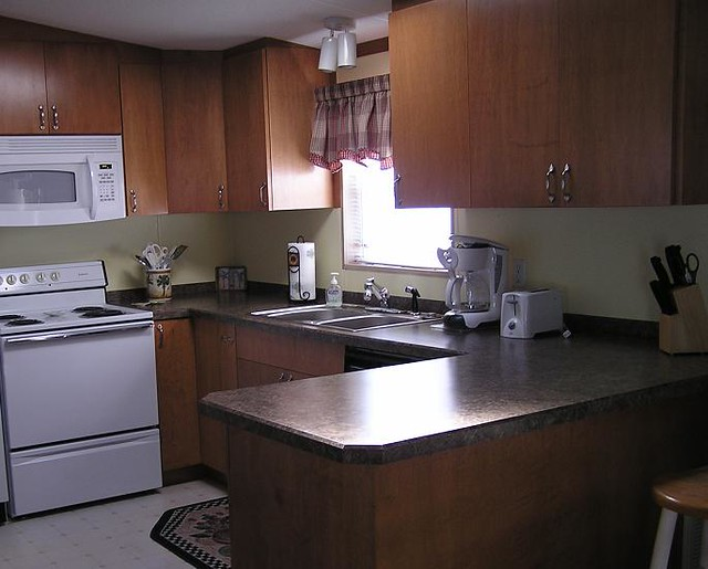 mobile home kitchen maple cabinets  Florida
