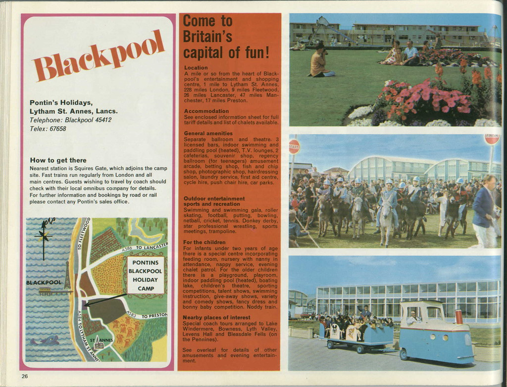 Pontins Brochure 1972  Blackpool  The brainchild of Herber  Flickr