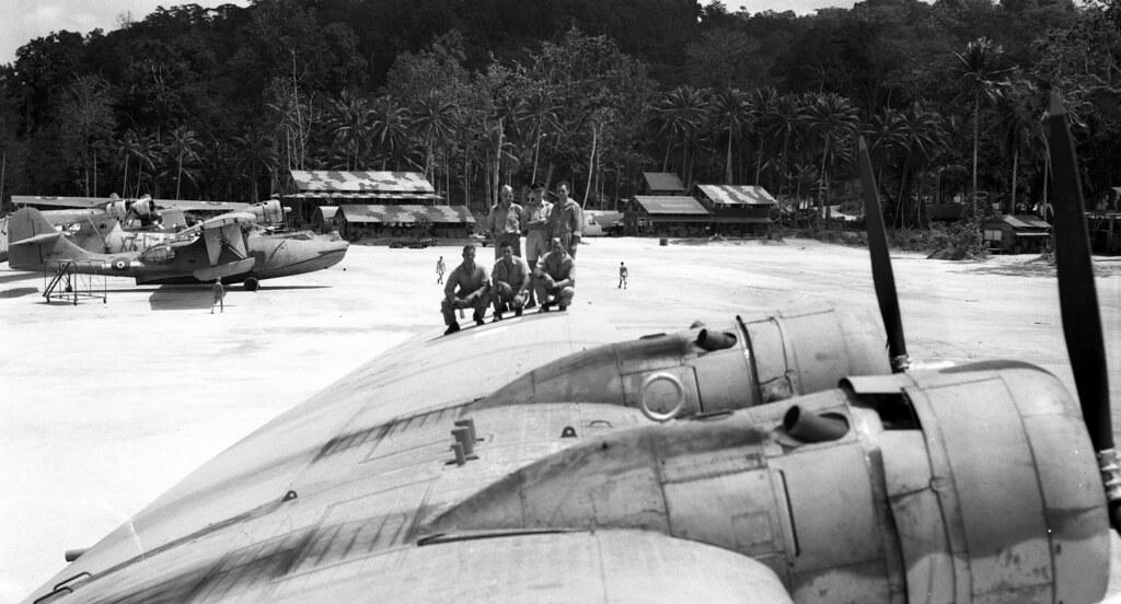 RNZAF 6 Squadron Halavo Bay 1945  RNZAF Flying Boat base at  Flickr