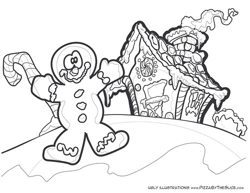 Gingerbreadman & Gingerbread House : A Kid's Color Book Pa