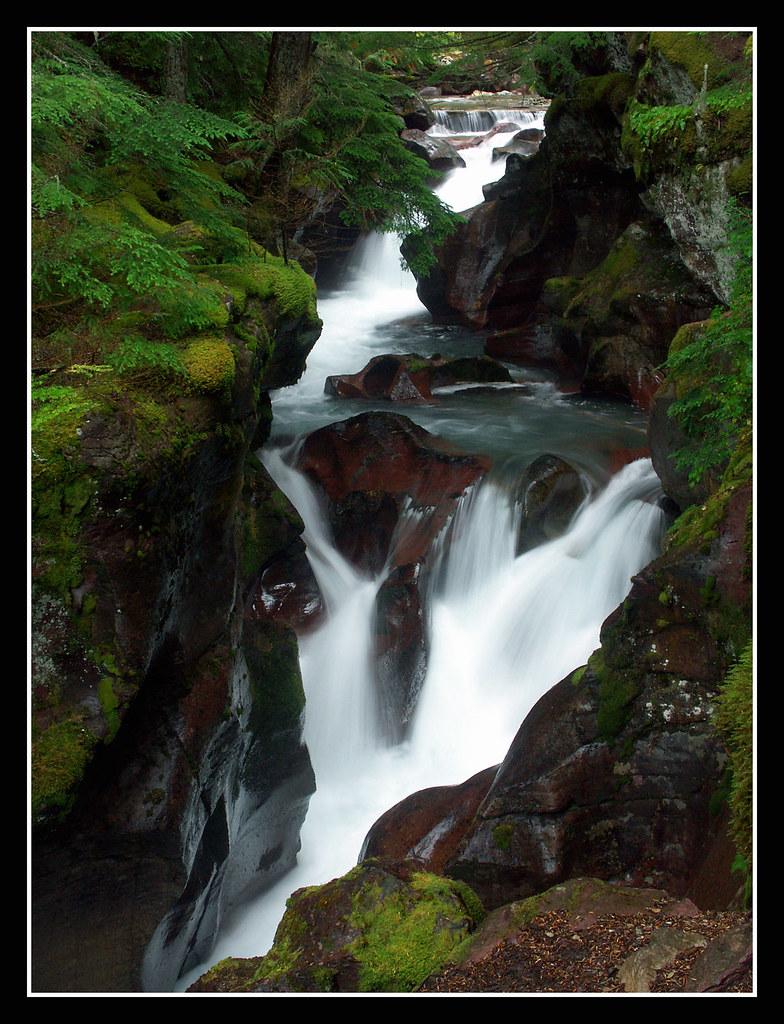 Avalanche Falls Glacier National Park Montana  These deli  Flickr