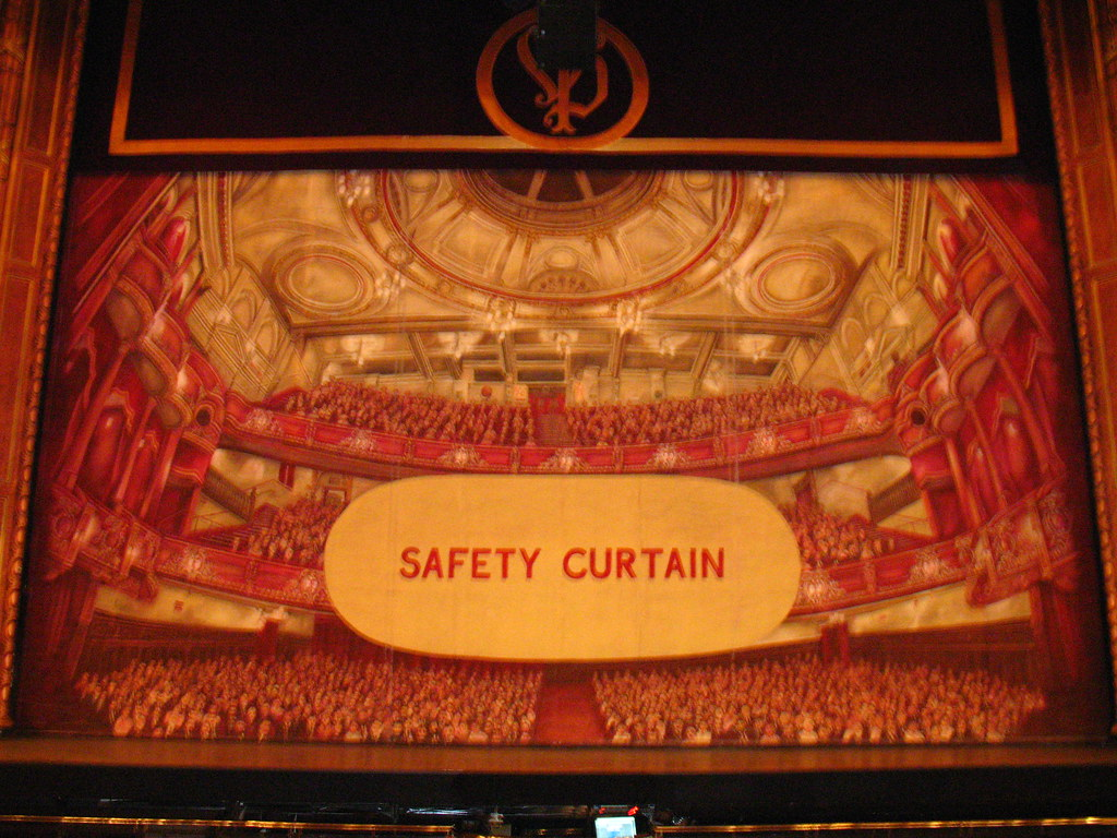Safety Curtain Victoria Palace Theatre  Planetgordoncom