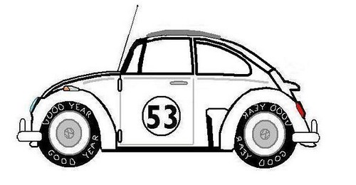 Love Bug Herbie The Movie Coloring Page Pages Sketch