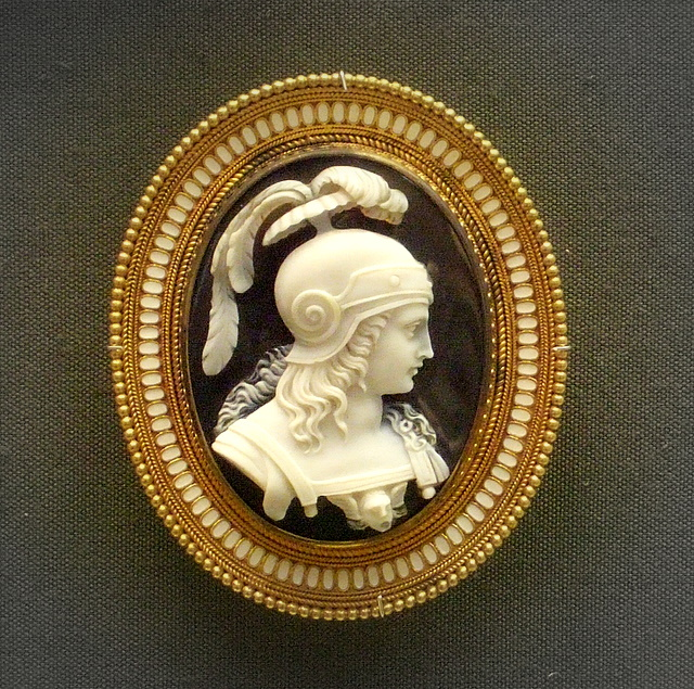 Onyx cameo brooch  British Museum In enameld gold Rome