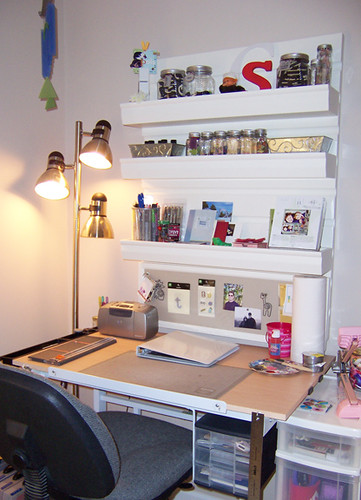 Scrapbooking Desk  My scrapbooking desk with Pottery Barn