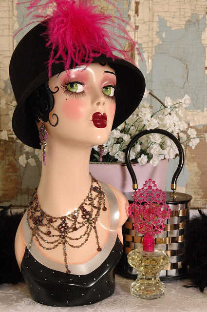 VINTAGE STYLE ART DECO FLAPPER MANNEQUIN HEAD  Here is my l  Flickr