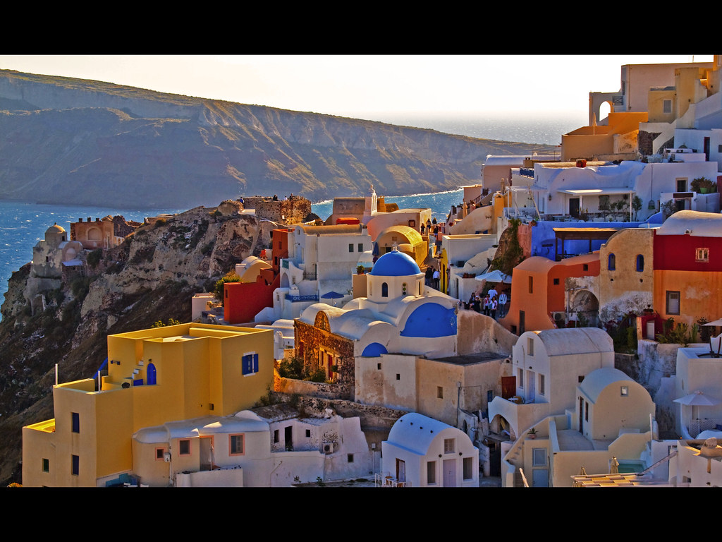Santorini Oia Village Oia Pronounced E Ah Is Known
