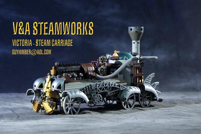 VICTORIA Steam Carriage By VampA Steamworks LEGO Steampunk