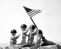 Raising the flag on Iwo Jima | A Lego recreation of Joe ...