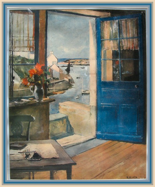My Mothers Favorite Painting Wintz Blue Door  Spring al  Flickr
