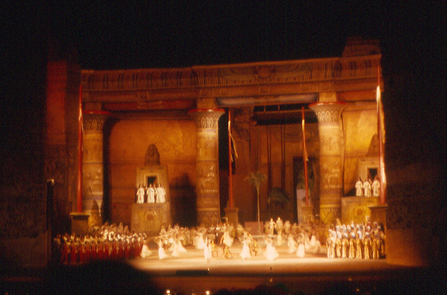 Rome  Aida at Baths of Caracalla  Opera is performed