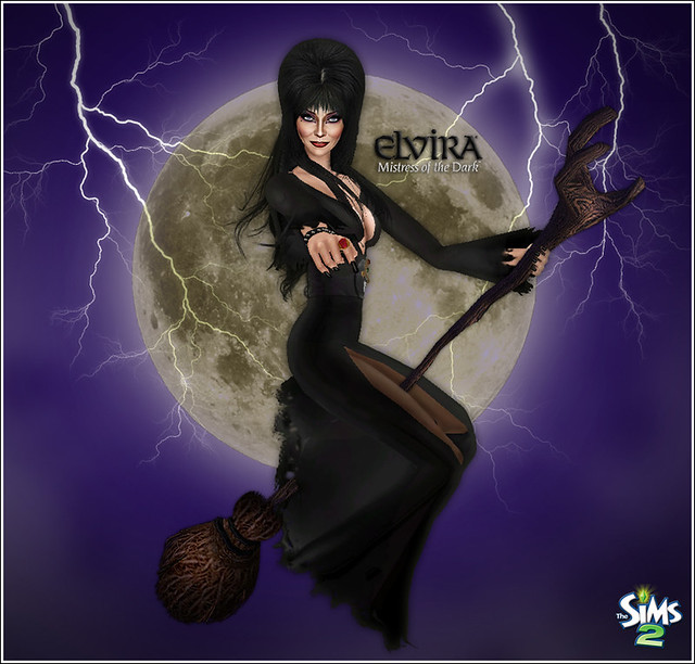 Elvira Sims Witch Pose  DOWNLOAD SIMS linnamodthesims2