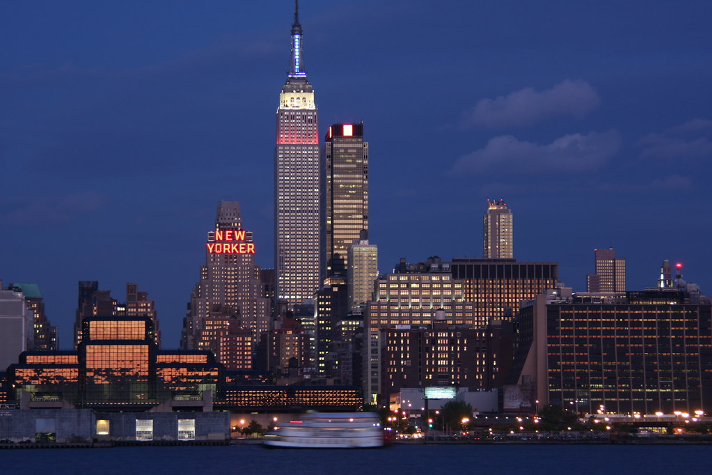 New York City skyline with Empire State Building | The blue … | Flickr