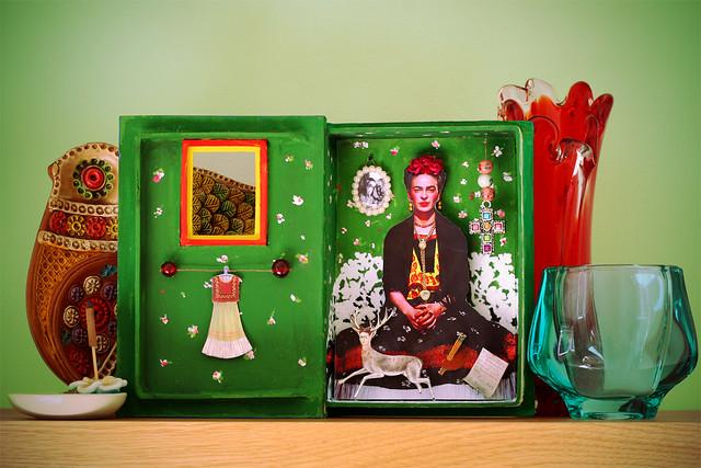 Altered Art Frida Shadow Box Inside Once Inside I