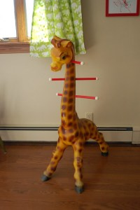 Baby Giraffe Coat Rack | Another awesome estate sale score ...