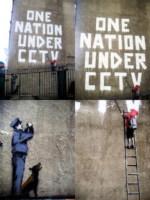 Banksy  One nation under CCTV  The lastest Bansky action