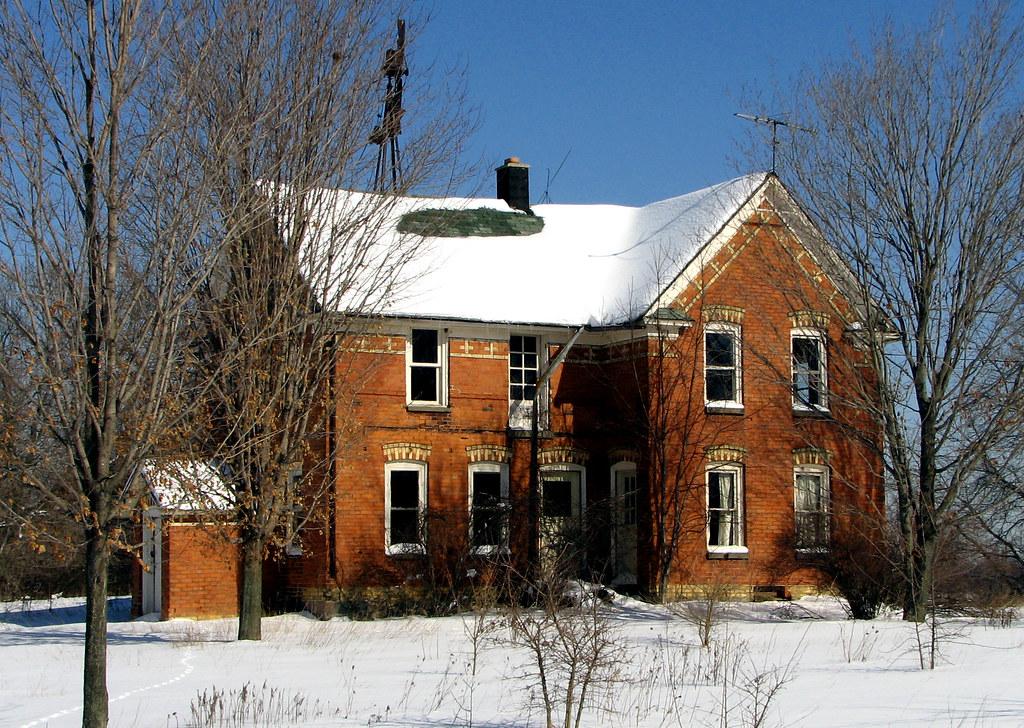 Abandoned Veneklasen Brick Farmhouse 215 Riley