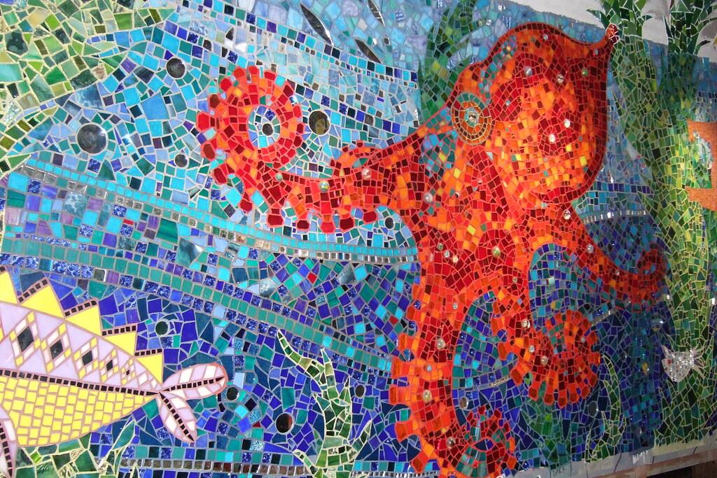 Bathroom Mosaic  Octopus  Gaudis Submarine at Grannys