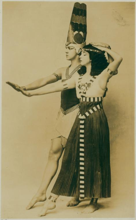 Ruth St. Denis and Ted Shawn in Egyptian Ballet.