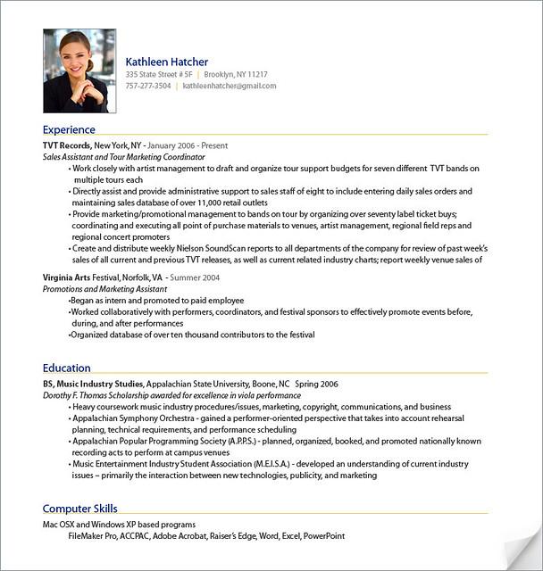 Professional Resume Sample from ResumeBearcom  Sample