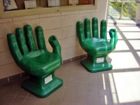 Green Hand Chairs ~ Recycled plastic PET bottles | I want ...