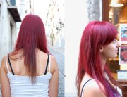 hair color red purple haircut