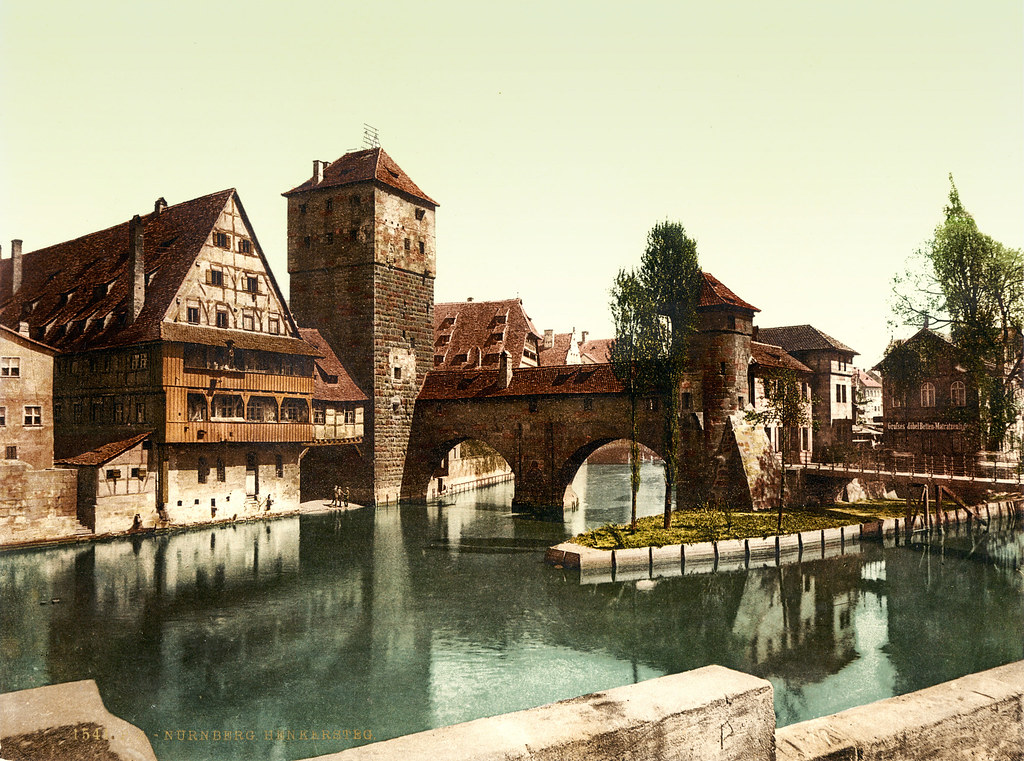 Hangman Bridge Nuremberg Bavaria ca 1895  Hangman