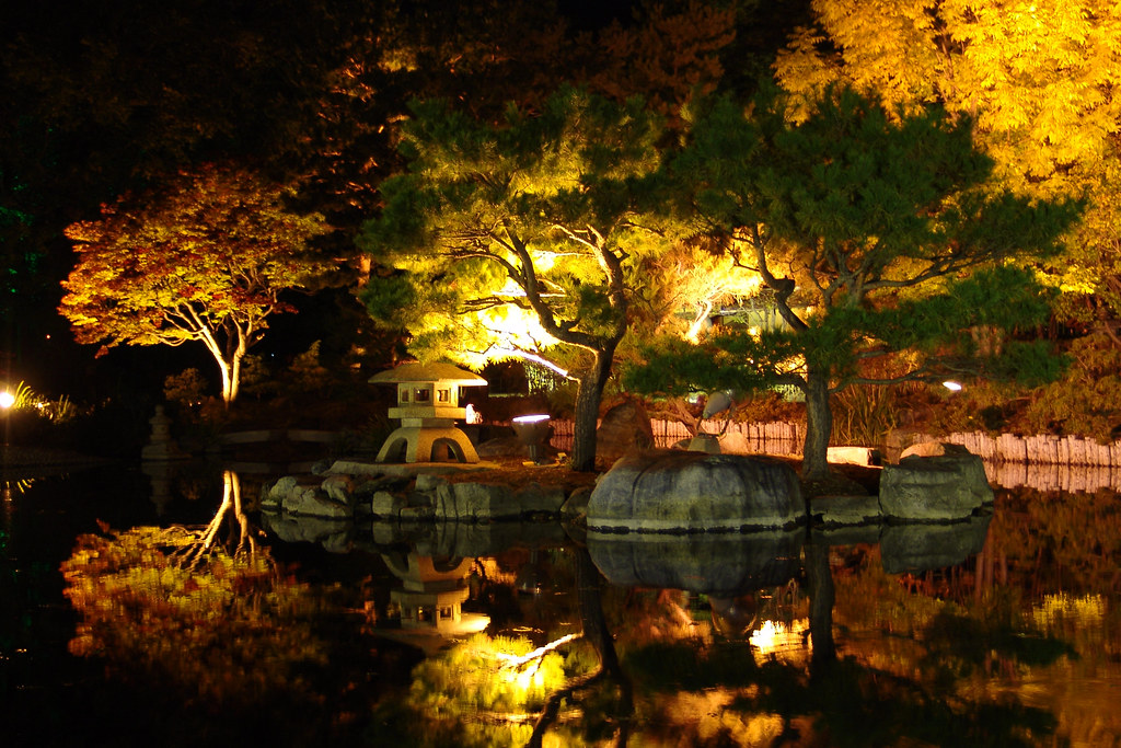 Lightingup  Japanese garden  Some of these spots will