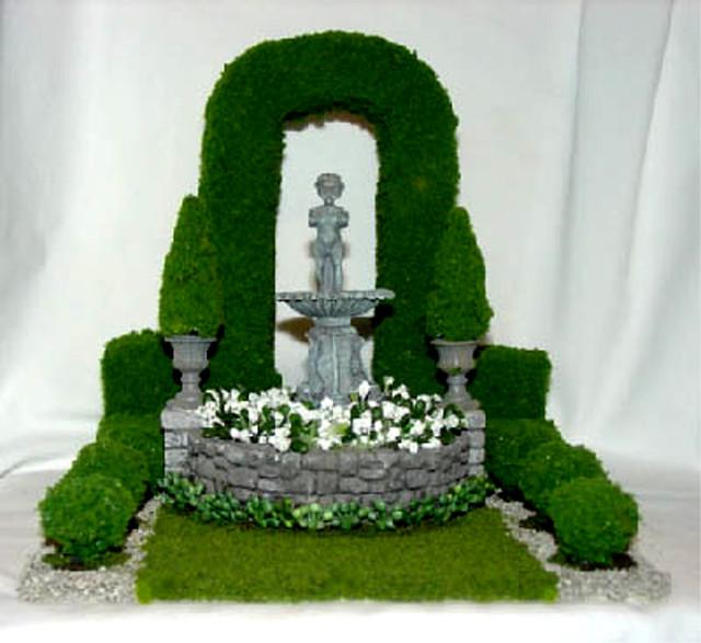 miniature formal garden 1 12 scale
