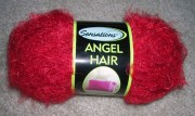 joann sensations angel hair - red