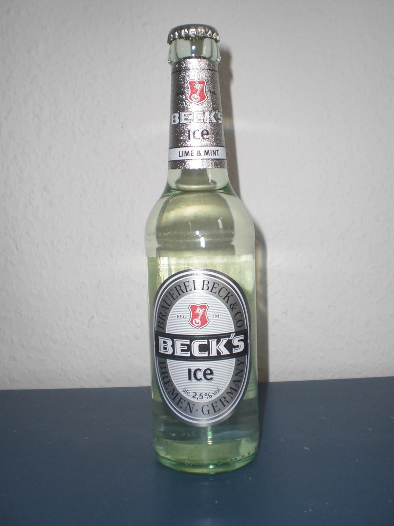 Becks Ice Bottle  New Edition 2008 The first Beer that