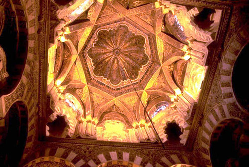 The Great Mosque of Cordoba The ribbed dome in front of t