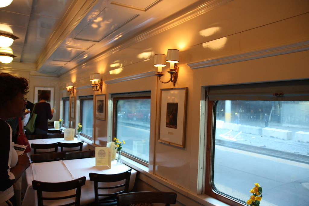 CO Dining Car Interior  Restored interior of the CO