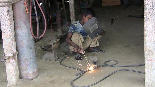 Child Labor Welding In A Garage In My Latest Trip To