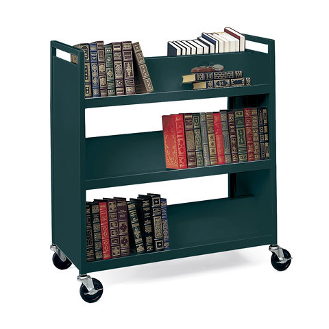 mobile book shelf try a library book cart Greg La