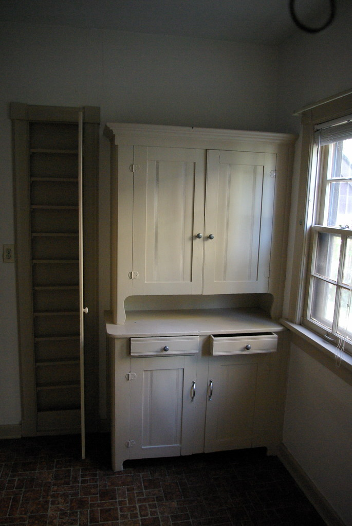1920s Kitchen  The built in cabinets are original The