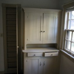 Kitchen Cabinets White Ceramic Tile Countertops 1920s | The Built In Are Original. ...
