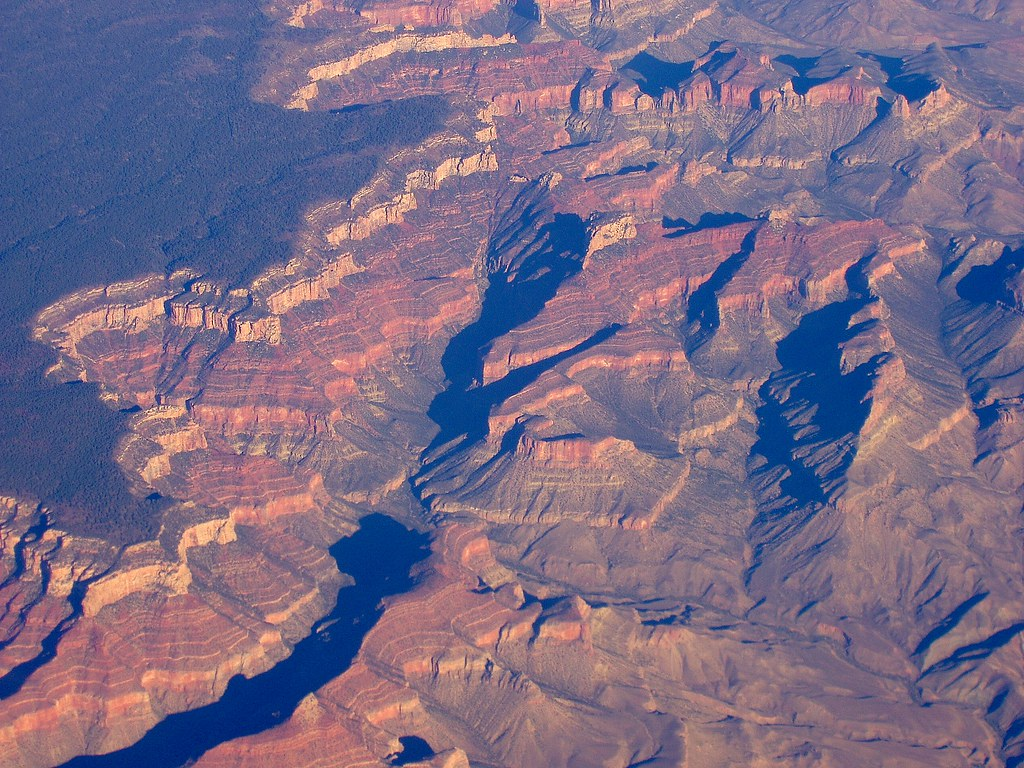 Grand Canyon From The Air 2 Taken From A Commercial